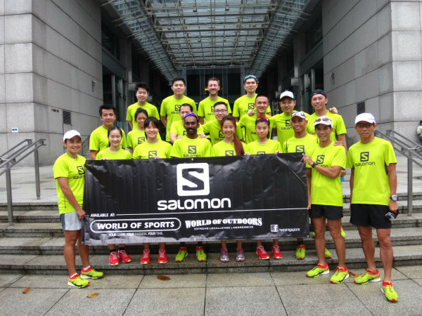 All wearing the shoes at the Salomon Launch Event last Sunday.