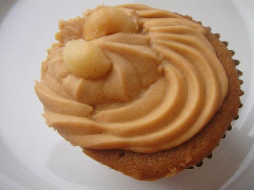 Macadamia and salted caramel cupcake.
