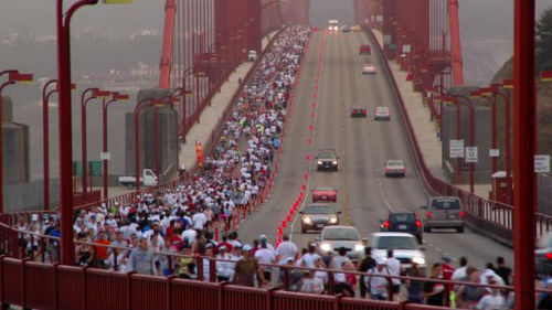 The San Francisco Marathon is challenging, but the views are lovely. (Image from vimeo.com)