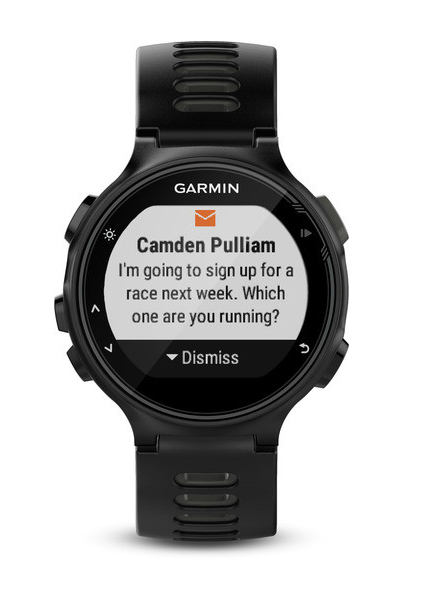 You can also receive notifications via the 735XT watch. [Photo source: Garmin US]