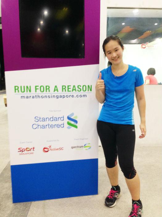 Sweaty but happy after my 5Km run.