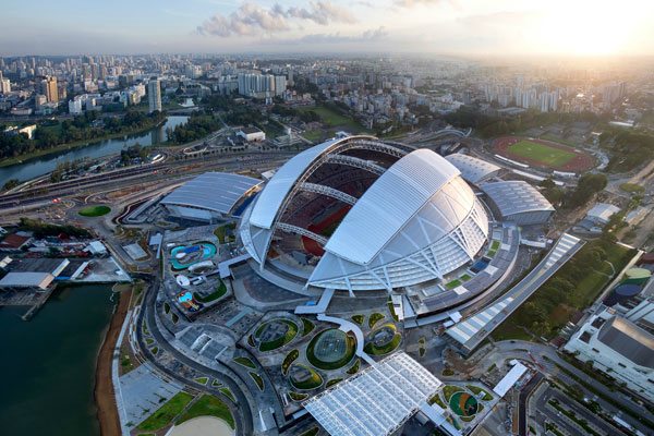 Riders would end inside the dome of the Singapore Sports Hub. [Photo by IndesignLive]