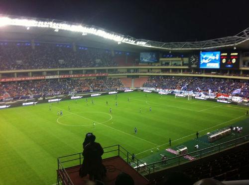 Shanghai Hongkou Stadium, where Jia Zhen catches live football matches. (Picture courtesy of Jia Zhen).