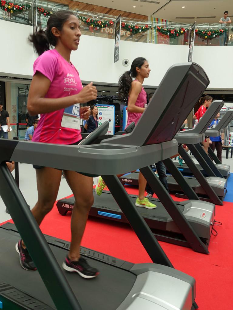 National sprinter, Shanti Pereira, is all smiles.