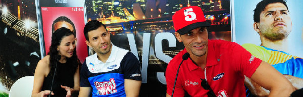 Rio Ferdinand & Sergio Aguero at SG Game On: SingTel Ultimate Selfie Challenge