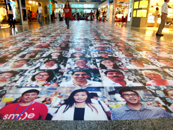 The photo mural is a work in progress - but it's already an impressive sight.