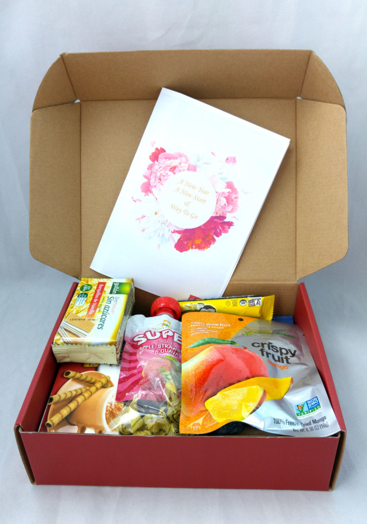 Joy Pantry recently delivered this box of snacks to me.