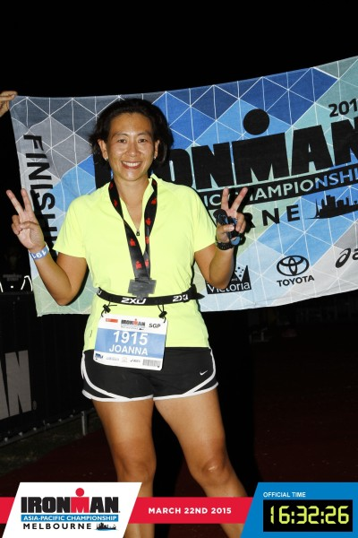 Dr Joanna Lin, you are an Iron(wo)man. Credit: Ironman Melbourne.