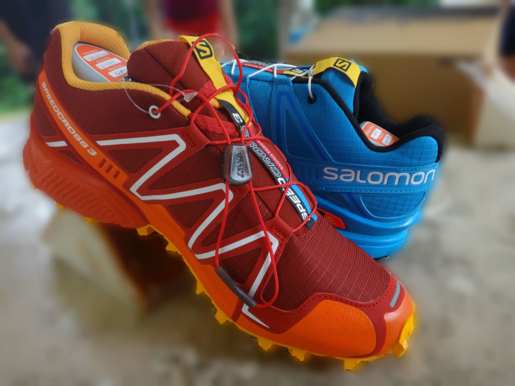 The Salomon SpeedCross 3 shoes.