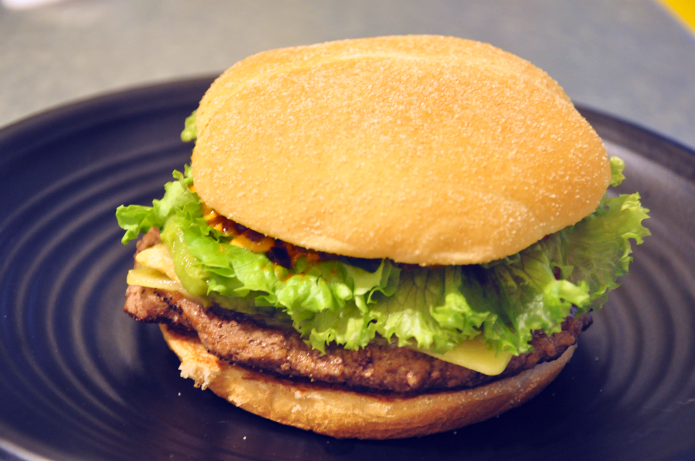 There is a growing appreciation and demand for premium foods such as this Spicy Tortilla Burger.