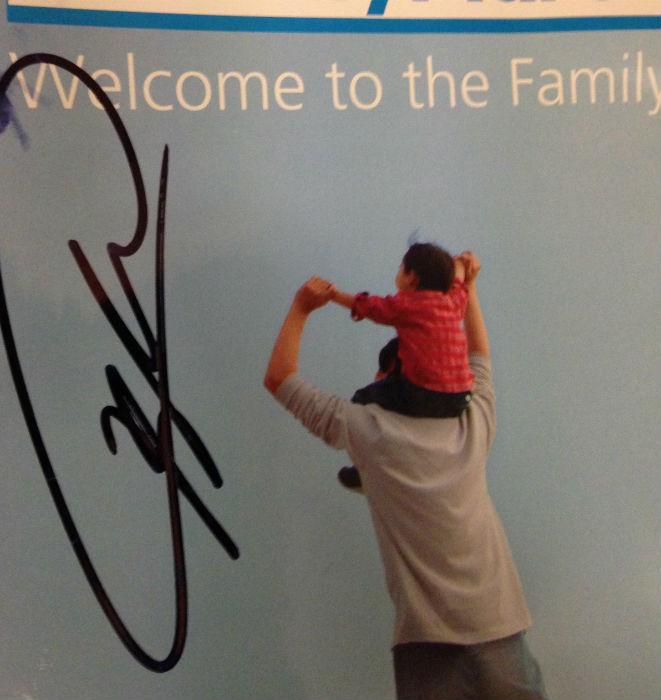 Yay I snagged Kaka's autograph too!