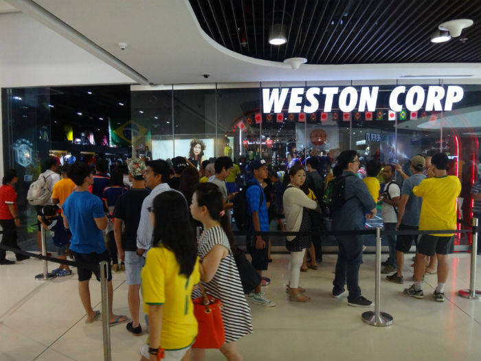 Fans are thronging Western Corp, the football jersey store.