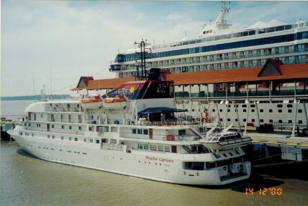 A luxury cruise ship.