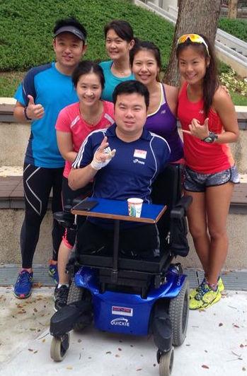 Sundown Charity Ambassadors with Jason Chee, a paralympic table tennis star