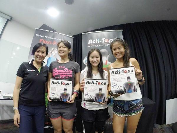 Sundown Marathon Charity Ambassadors each with an Acti-Tape kit