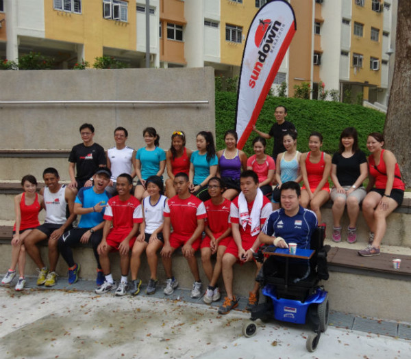 The Sundown Marathon Charity Ambassadors and some beneficiaries.
