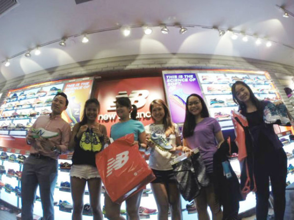 Me and the other Sundown Marathon Charity Ambassadors at the New Balance concept store.