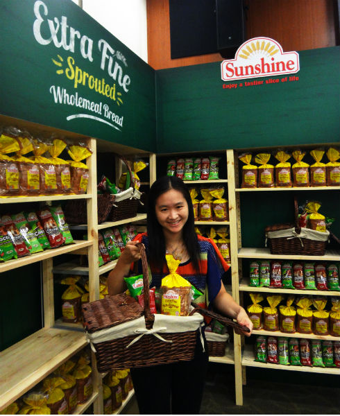 With Sunshine Bakeries' new, healthy product range.