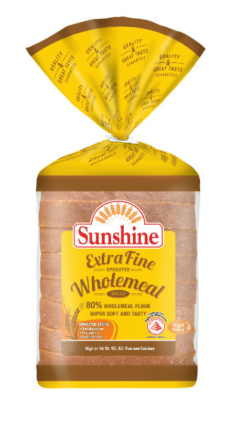 Sunshine Bakeries Extra Fine Wholemeal Bread. (Credit: Sunshine Bakeries)