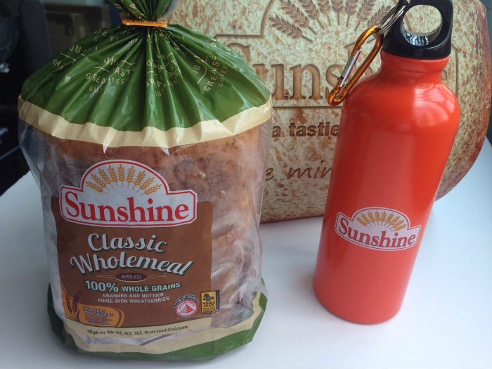 A little goodie bag, courtesty of Sunshine Bakeries.