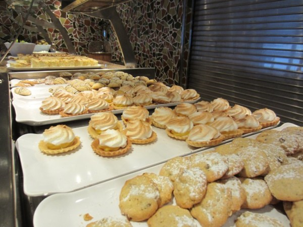 A selection of the scrumptious pastries that passengers can help themselves to.