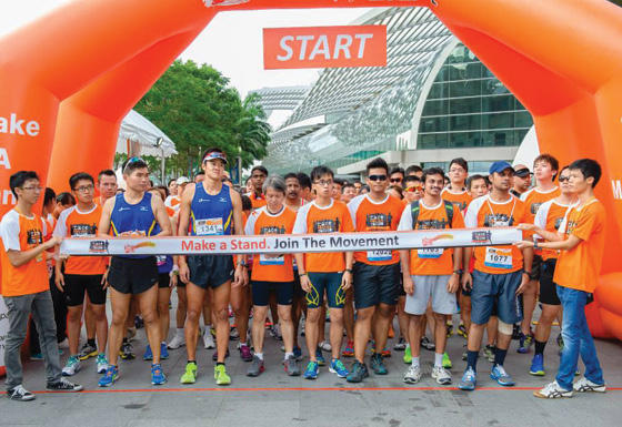 Orange Ribbon Run promotes friendship, respect and understanding amongst the various races in Singapore. Photo by: www.raceagainstracism.sg
