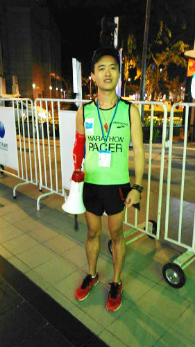 Lead Pacer Terence Teo. (Taken from Facebook).