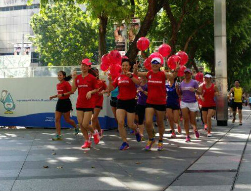 The lovely pacers in action. (Image: GE Women's Run)