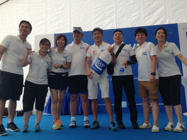 Some of the Pocari Sweat Team