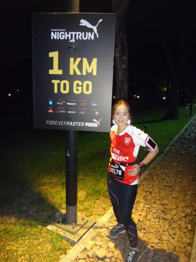 One more kilometre....