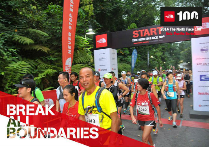 Crossing the starting line of the 50km race! (Image: TNF 100)