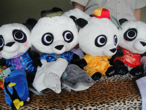 These panda toys are on discount this week.