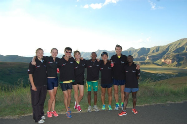 Edmund and his team mates at a training camp in Johannesburg, South Africa.