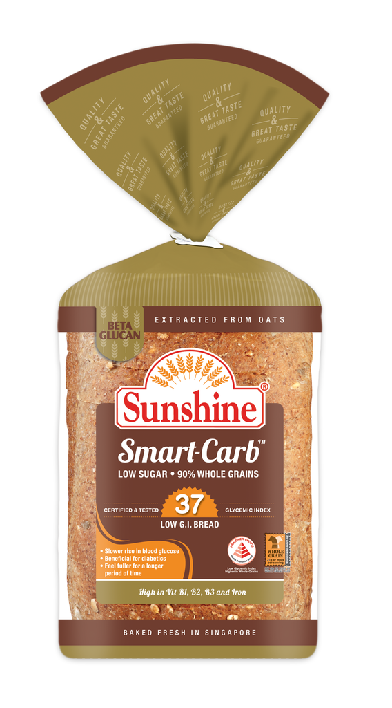 Sunshine's newly released Sunshine Smart-CarbTM Low Glycemic Index (G.I.) Bread.
