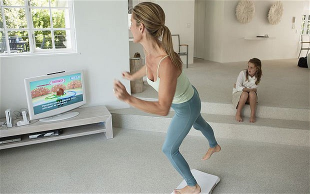 Playing xbox fitness games can develop a healthy and active lifestyle. (Source: www.telegraph.co.uk)