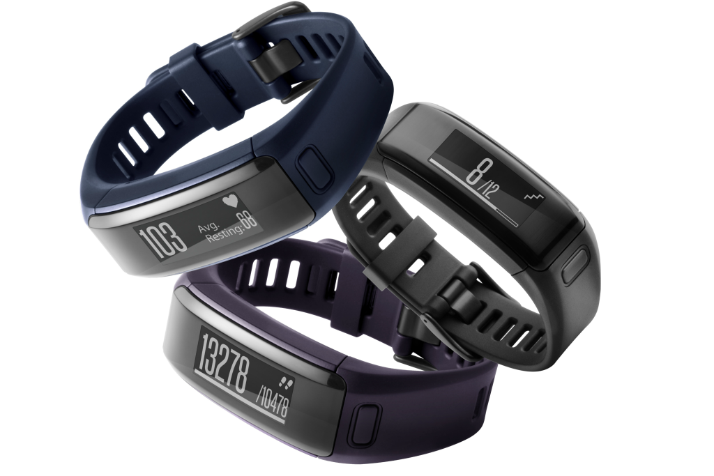 The Vivosmart HR comes in three colours. [Photo from Garmin.com]