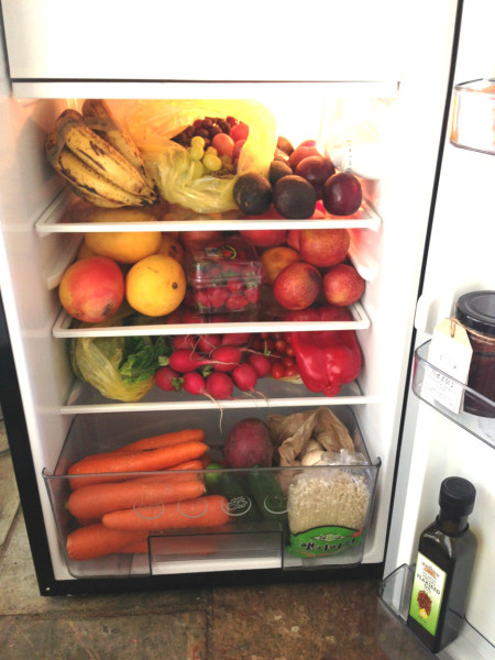The main contents of Vlad Ixel's fridge... are plenty of fruits and vegetables. Photo: Vlad Ixel