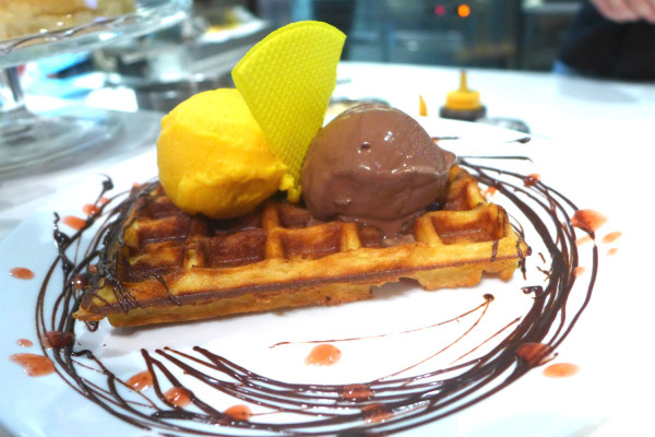 These scrumptious crunchy waffles tasted like heaven to me.