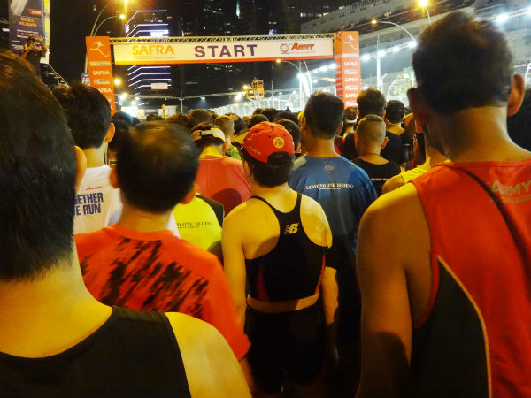 Runners are eagerly awaiting the 5am flag-off.