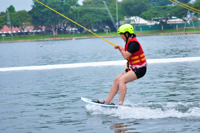 The wakeboarding turned out to be very fun!