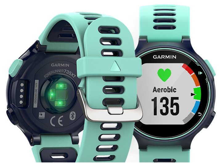 The watch has an optical heart-rate sensor. [Photo source: Garmin US]
