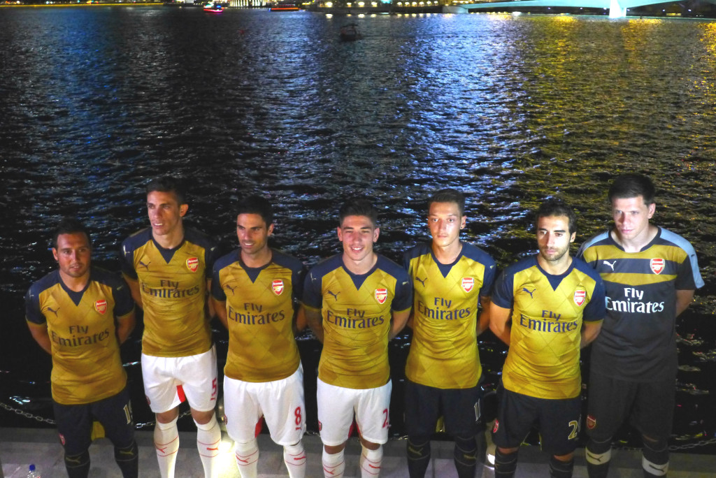 Posing in the new kits by the waterfront.