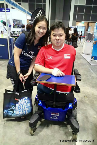 Inspiring table tennis star, Jason Chee.
