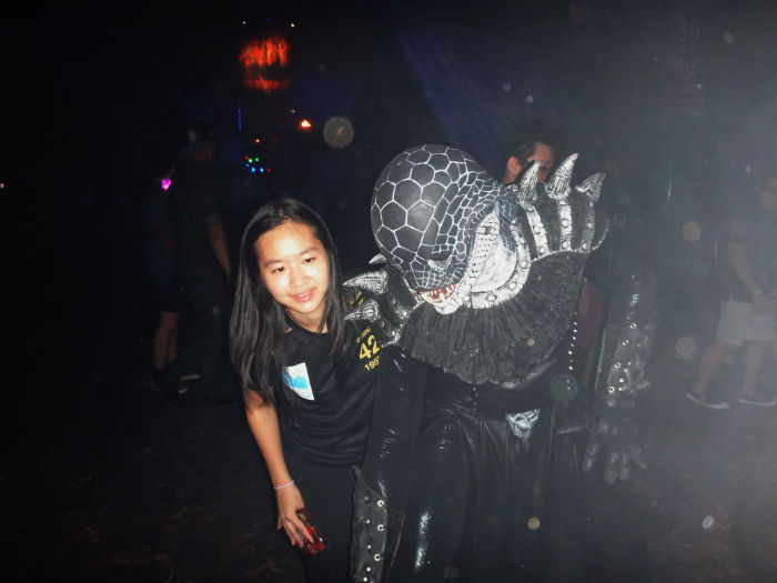 With one of the scare actors at Halloween Horror Nights 4.