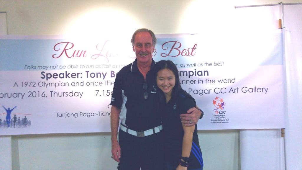 With Tony Benson.