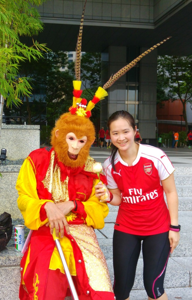 I managed to get a picture with Sun WuKong too.
