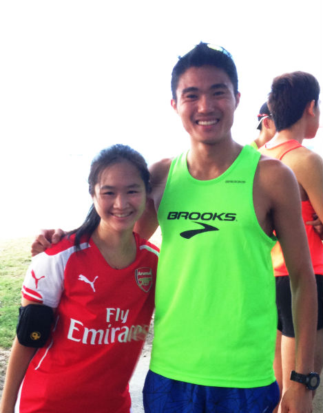 With the 2013 Sea Games Marathon Gold Medallist.