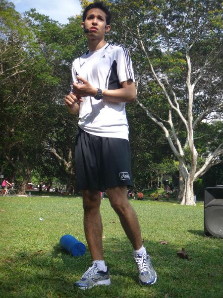 Zaki, the Senior Sports Physio from Tan Tock Seng Hospital.