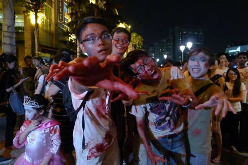 Zombie Walk at The Cathay. (Photo from Singapore Zombie Walk).
